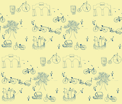 Davis, CA Toile fabric by darcie on Spoonflower - custom fabric