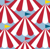 Big Top! || circus carnival flags tents stripes bunting baby nursery children primary colors