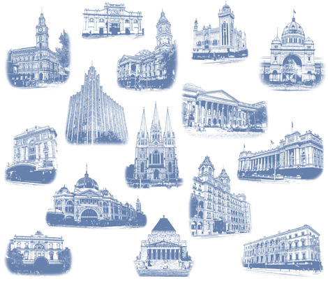 Melbourne_Toile fabric by karenmayo on Spoonflower - custom fabric