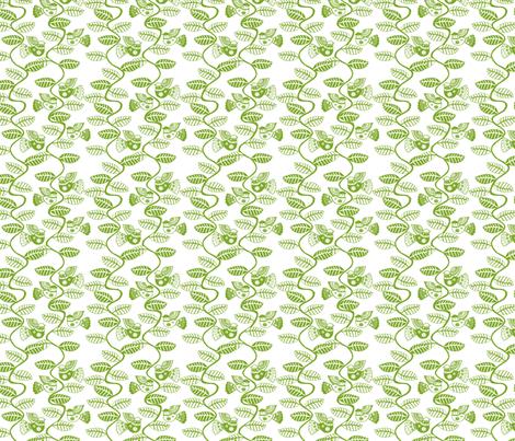 oiseau feuille vert fond blanc S