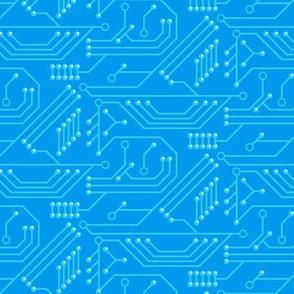Robot coordinates - circuit board - blue
