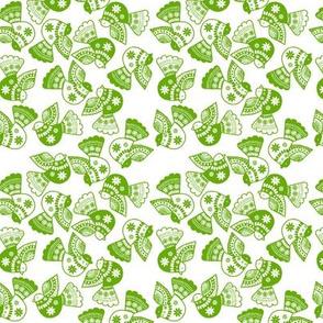 oiseau vert fond blanc S