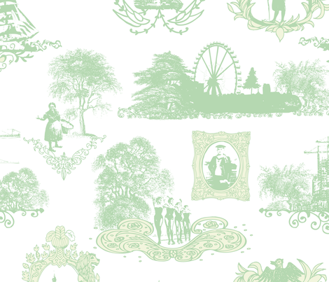 toile de hambourg fabric by loki_and_lamb on Spoonflower - custom fabric