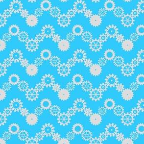 Robot coordinates - cog chevron - blue & white