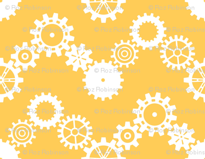 Robot coordinates - cog chevron - yellow & white
