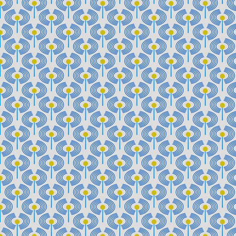 Robot coordinates - antennae - blue fabric by coggon_(roz_robinson) on Spoonflower - custom fabric