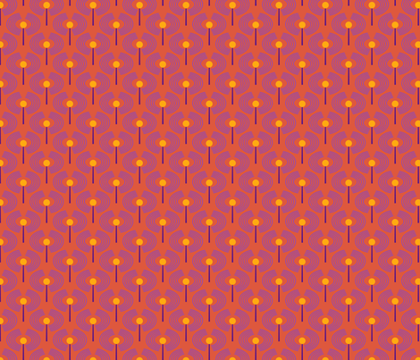 Robot coordinates - antennae - orange fabric by coggon_(roz_robinson) on Spoonflower - custom fabric