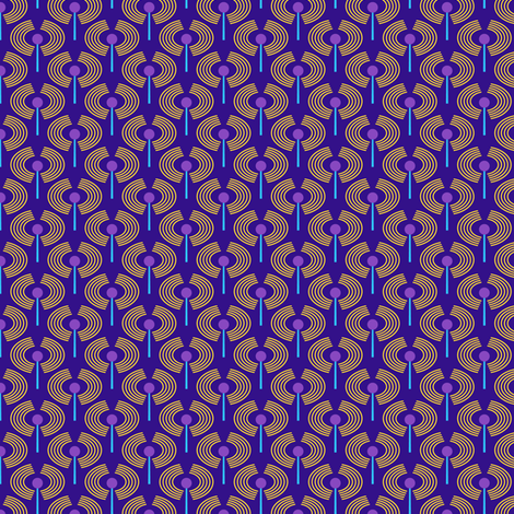 Robot coordinates - antennae - dark blue fabric by coggon_(roz_robinson) on Spoonflower - custom fabric