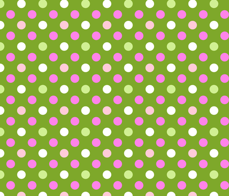 pois fond vert fabric by nadja_petremand on Spoonflower - custom fabric