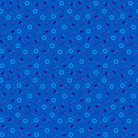 Robot coordinates - nuts and bolts - blue fabric by coggon_(roz_robinson) on Spoonflower - custom fabric