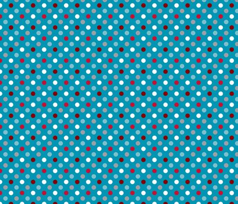 pois fond bleu