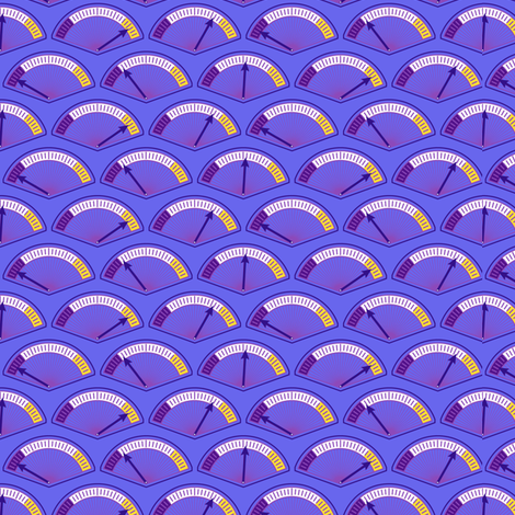 Robot coordinates - dials - dark purple fabric by coggon_(roz_robinson) on Spoonflower - custom fabric