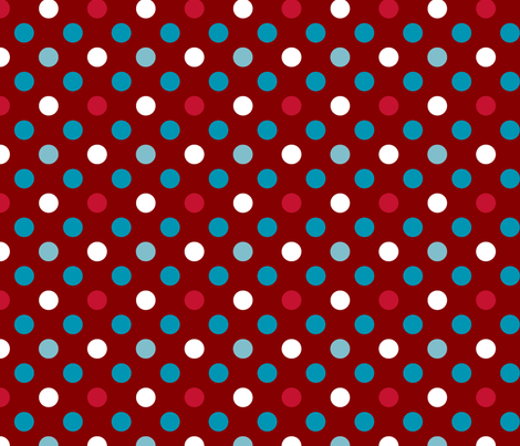 pois fond rouge fabric by nadja_petremand on Spoonflower - custom fabric