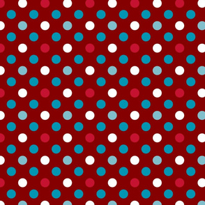 pois fond rouge