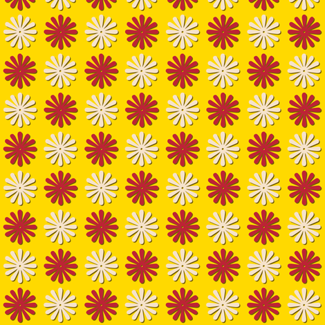 Circus Wheels (Yellow) fabric by pennycandy on Spoonflower - custom fabric