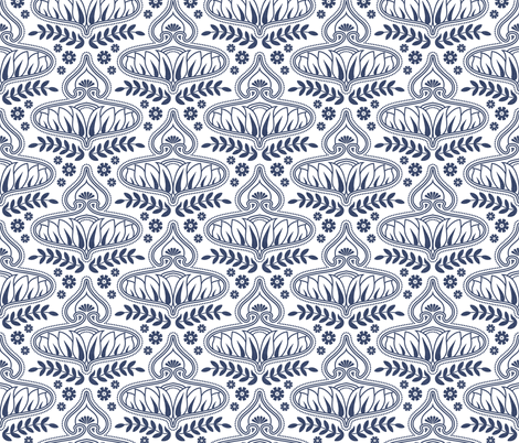 delft_calleis_linen fabric by holli_zollinger on Spoonflower - custom fabric
