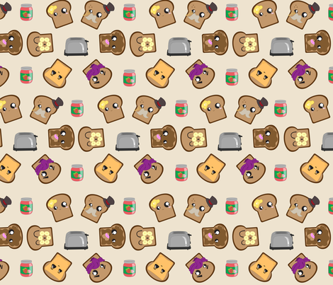 Geometric Toast fabric by kikofleece on Spoonflower - custom fabric