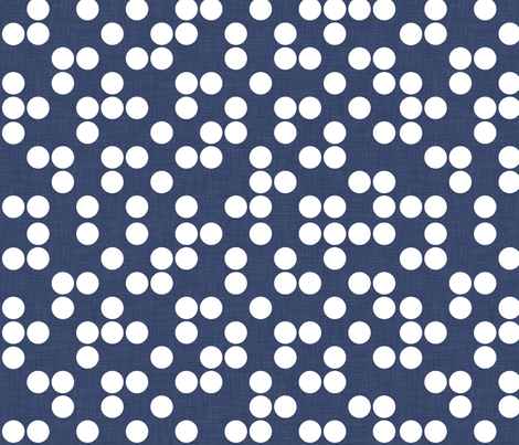 delft_dots_linen fabric by holli_zollinger on Spoonflower - custom fabric