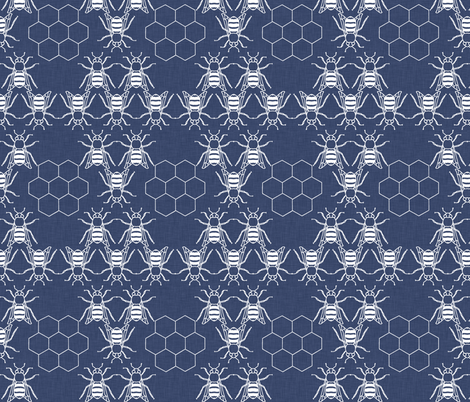delft_honeybees fabric by holli_zollinger on Spoonflower - custom fabric