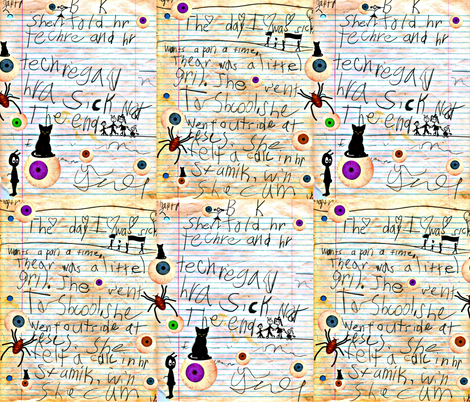 The greatest Story Ever Told Phonetically  fabric by whimzwhirled on Spoonflower - custom fabric