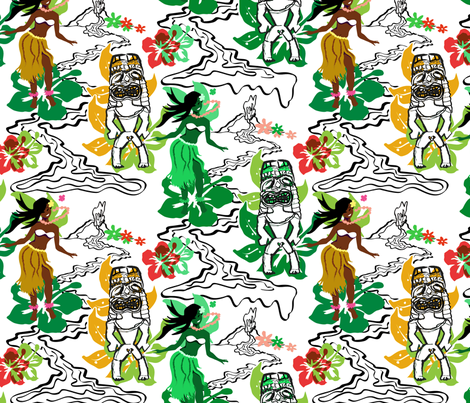 hawaii_textileFunky fabric by mimg on Spoonflower - custom fabric