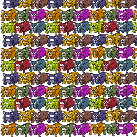 Cats__cats_and_more_cats fabric by graphicdoodles on Spoonflower - custom fabric
