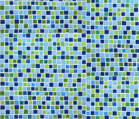 Aqua Tile fabric by jamesmelcher on Spoonflower - custom fabric