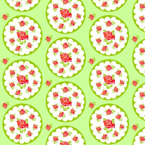 spring flowers green fabric by rosapomposa on Spoonflower - custom fabric