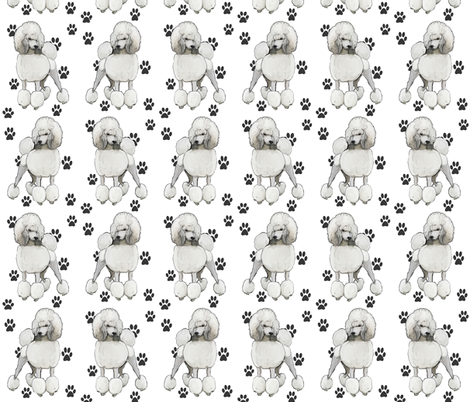 poodlepaws fabric by dogdaze_ on Spoonflower - custom fabric