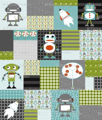 Robots Cheater quilt LG