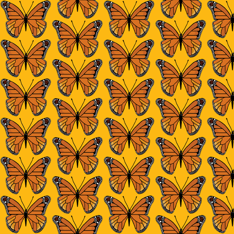 butterfly yellow fabric by paragonstudios on Spoonflower - custom fabric