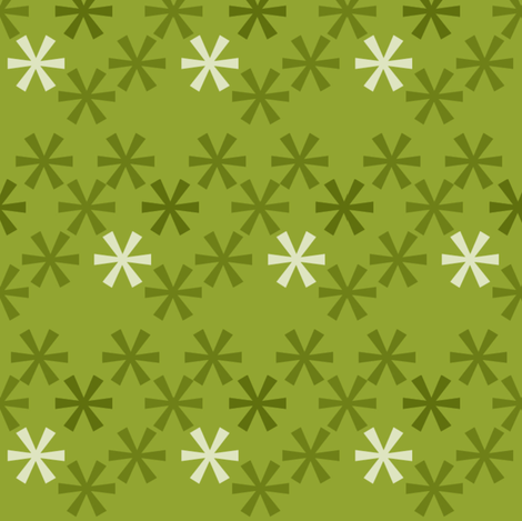 Asterisks Green fabric by natitys on Spoonflower - custom fabric