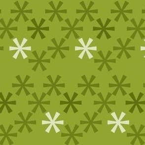 Asterisks Green