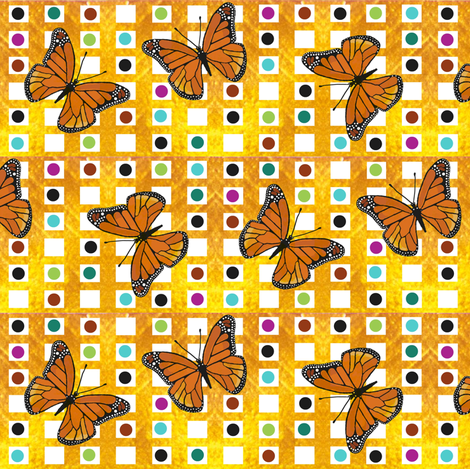 butterfly dot fabric by paragonstudios on Spoonflower - custom fabric