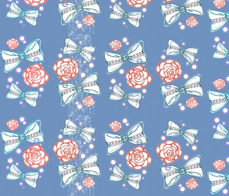 Bows and Roses fabric by lovelylatte on Spoonflower - custom fabric
