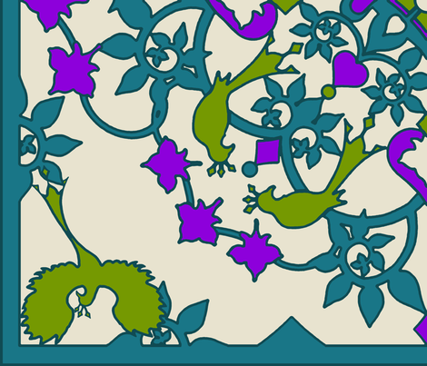 Paradise_Garden fabric by adranre on Spoonflower - custom fabric
