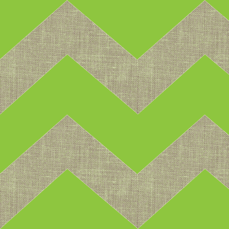 chevron burlap / lime fabric by paragonstudios on Spoonflower - custom fabric