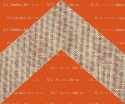 chevron burlap / orange