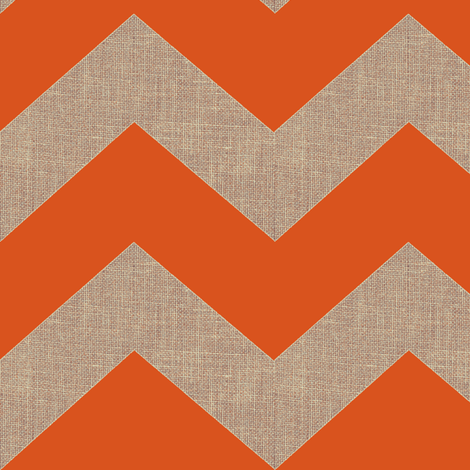 chevron burlap / orange fabric by paragonstudios on Spoonflower - custom fabric