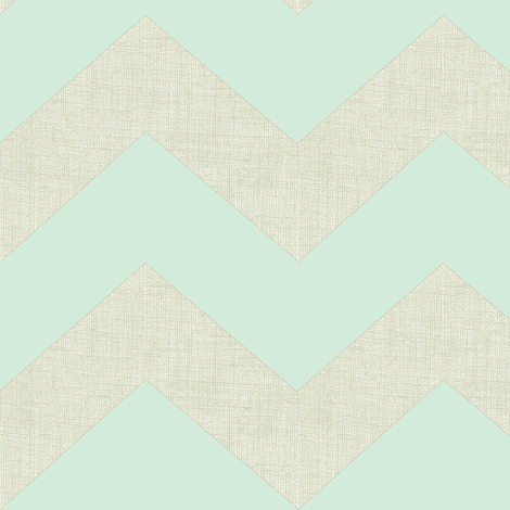 chevron burlap / mint fabric by paragonstudios on Spoonflower - custom fabric