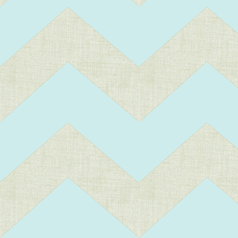 chevron burlap / baby blue fabric by paragonstudios on Spoonflower - custom fabric