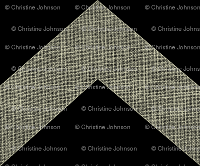 chevron burlap / black