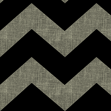 chevron burlap / black fabric by paragonstudios on Spoonflower - custom fabric