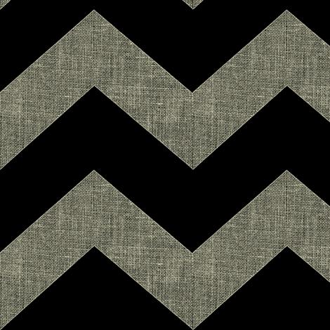 chevron burlap / black fabric by paragonstudios on Spoonflower - custom fabric