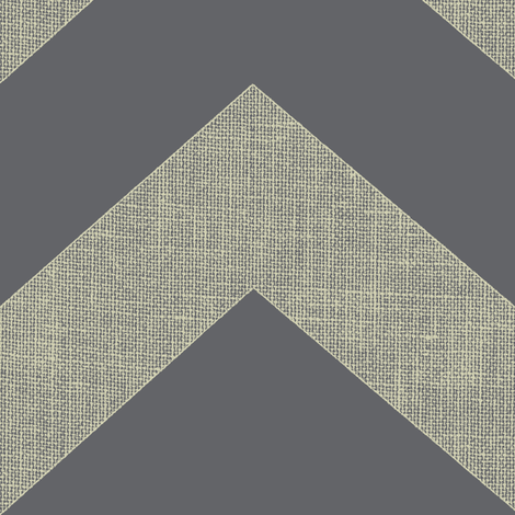 chevron burlap / steel fabric by paragonstudios on Spoonflower - custom fabric