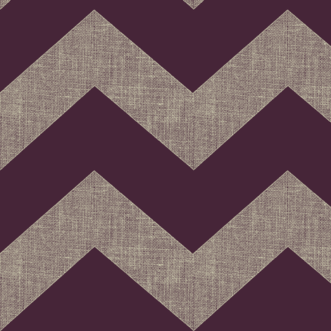 chevron burlap / eggplant fabric by paragonstudios on Spoonflower - custom fabric