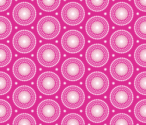 Bandana* (Pink Disaster) || scarf handkerchief stars starburst circles flowers fireworks geometric mandala fabric by pennycandy on Spoonflower - custom fabric