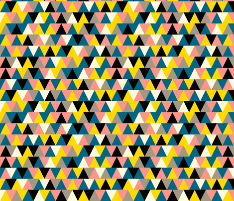 Bubblegum Triangles fabric by pennycandy on Spoonflower - custom fabric