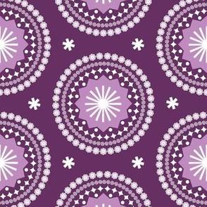 Bandana* (Flash) || scarf handkerchief stars starburst circles flowers fireworks geometric mandala