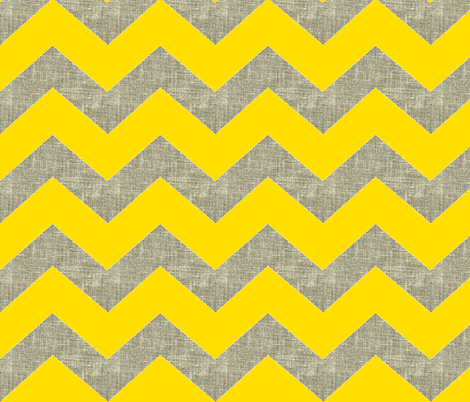 chevron burlap / bee fabric by paragonstudios on Spoonflower - custom fabric